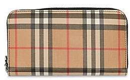 Burberry Women's Elmore Vintage Check Zip-Around Wallet