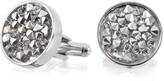 Forzieri Lumiere Crystal and Brass Round Cufflinks
