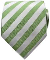 Bestow Mens Fashion Ltd Bestow Olive & White Striped Ties | Neckties