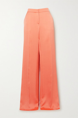 Valentino Satin Wide-leg Pants - Orange