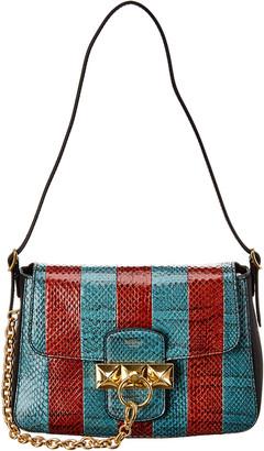 Mulberry Keeley Mini Snakeskin & Leather Shoulder Bag