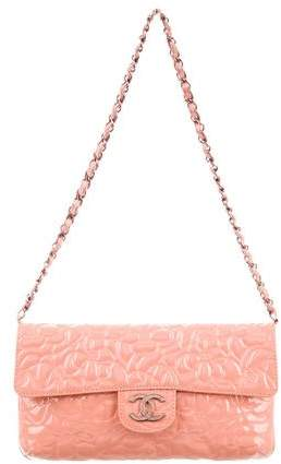 Chanel Patent Leather Camellia Flap Bag