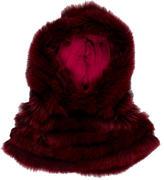 Etro Fox Fur Hooded Snood