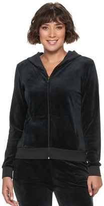 Juicy Couture Women's Ultrasoft Velour Hooded Jacket