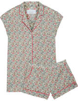 Three J NYC Olivia Floral-print Cotton-poplin Pajama Set - Mint