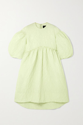 Simone Rocha Ruffled Cloque Midi Dress - Green