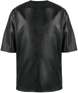Alchemy faux-leather boxy-fit T-shirt