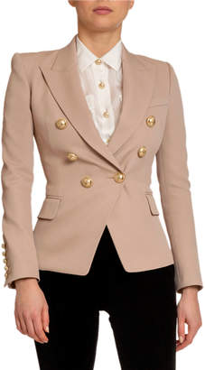 Balmain Classic 6-Button Wool Blazer
