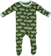 Kickee Pants Baby Boy's Footie - Moss Turtle