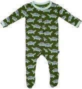 Kickee Pants Baby Boy's Footie - Moss Turtle
