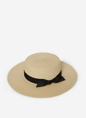 Dorothy Perkins Womens Beige Boater Hat