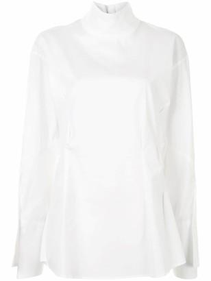 Sulvam High-Neck Cotton Shirt