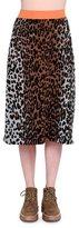 Stella McCartney Cheetah-Print Slim Skirt, Beige/Black/Havana