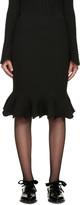 Lanvin - Jupe côtelée noire