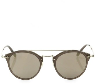 Oliver Peoples Remick 50MM Round Mirrored Sunglasses