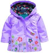 Arshiner Little Girls' Waterproof Hooded Coat Jacket Outwear Raincoat,Size 110