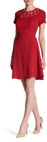 Adrianna Papell Crepe Cutout A-Line Dress (Regular & Petite)