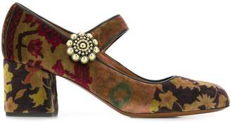Etro patterned Mary Jane pumps