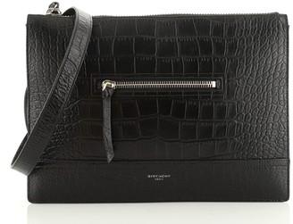 Givenchy Portfolio Messenger Crocodile Embossed Leather Large