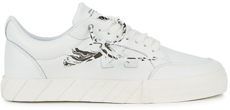 Off-White Low Vulcanized White Leather Sneakers