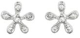 Cathy Waterman Tiny Daisy Stud Earrings - Platinum