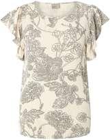 Vero Moda **Vero Moda Cream Floral T-Shirt