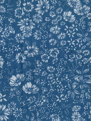 Oddies Textiles Garden Scene Print Fabric, Chambray