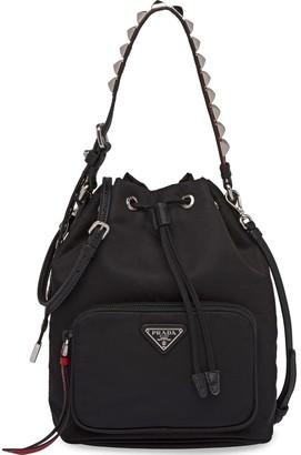 Prada Studded-Strap Shoulder Bag