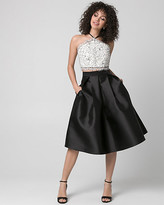 Le Château Lace & Taffeta Two-Piece Party Dress
