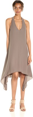 BCBGMAXAZRIA Azria Women's Haylee-V-Neck Drape Back Woven Cocktail Dress