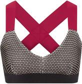 NO KA 'OI No Ka'Oi Ola stretch-knit and stretch-jersey sports bra