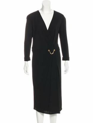 Versace Medusa-Accented Evening Dress Black