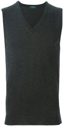 Zanone knitted tank top