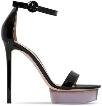 Gianvito Rossi 130mm Patent Leather Platform Sandals