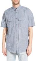 Zanerobe Men's Rugger Oversize Microstripe Sport Shirt