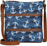 Style and Co Vyniisha Printed Multi Zip Crossbody, Created for Macy's