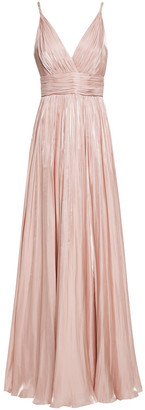 Jenny Packham Open-back Iridescent Sequined Tulle Gown
