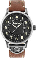 Timberland Men's Cohasset Cognac Brown Leather Strap Watch 45mm