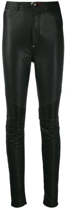 Philipp Plein super highwaist Biker Statement trousers