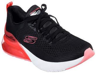 Skechers Womens Air Stratus-Wind Breeze Oxford Shoes Closed Toe, 5 Medium, Black