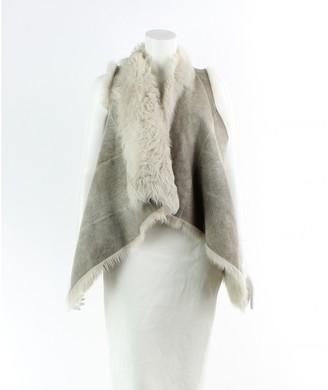 Karl Donoghue Grey Leather Jacket for Women