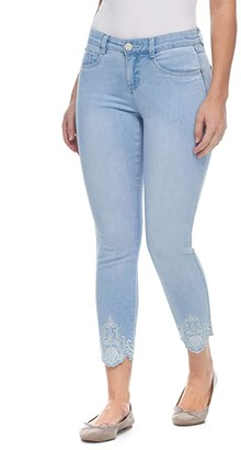 FDJ French Dressing Jeans Christina Slim Ankle with Embroidered Hem Detail in Pale Sky (Pale Sky) Women's Jeans