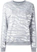 Kenzo tiger stripes sweatshirt - women - Cotton - M