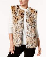 INC International Concepts I.N.C. Leopard-Print Faux Fur Vest, Created for Macy's