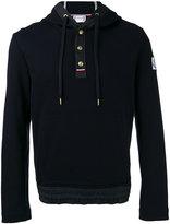 Moncler Gamme Bleu piquet hoodie - men - Cotton - XL