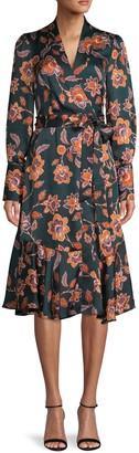 BCBGMAXAZRIA Floral Wrap Dress