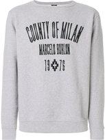 Marcelo Burlon County of Milan Jak crewneck sweatshirt - men - Cotton - S
