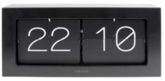 Present Time Black Table/Wall Battery Operated Boxed Flip Clock