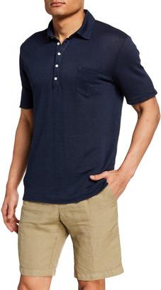 Massimo Alba Men's Linen Pique Jersey Polo Shirt