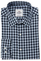 Ben Sherman Blue Gingham Heritage Slim Fit Dress Shirt